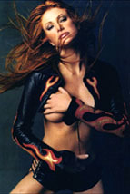 Angie Everhart as a passionate sexual predator.